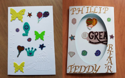 Birthday card arts and crafts at Silverpoint Court Residential Care Home