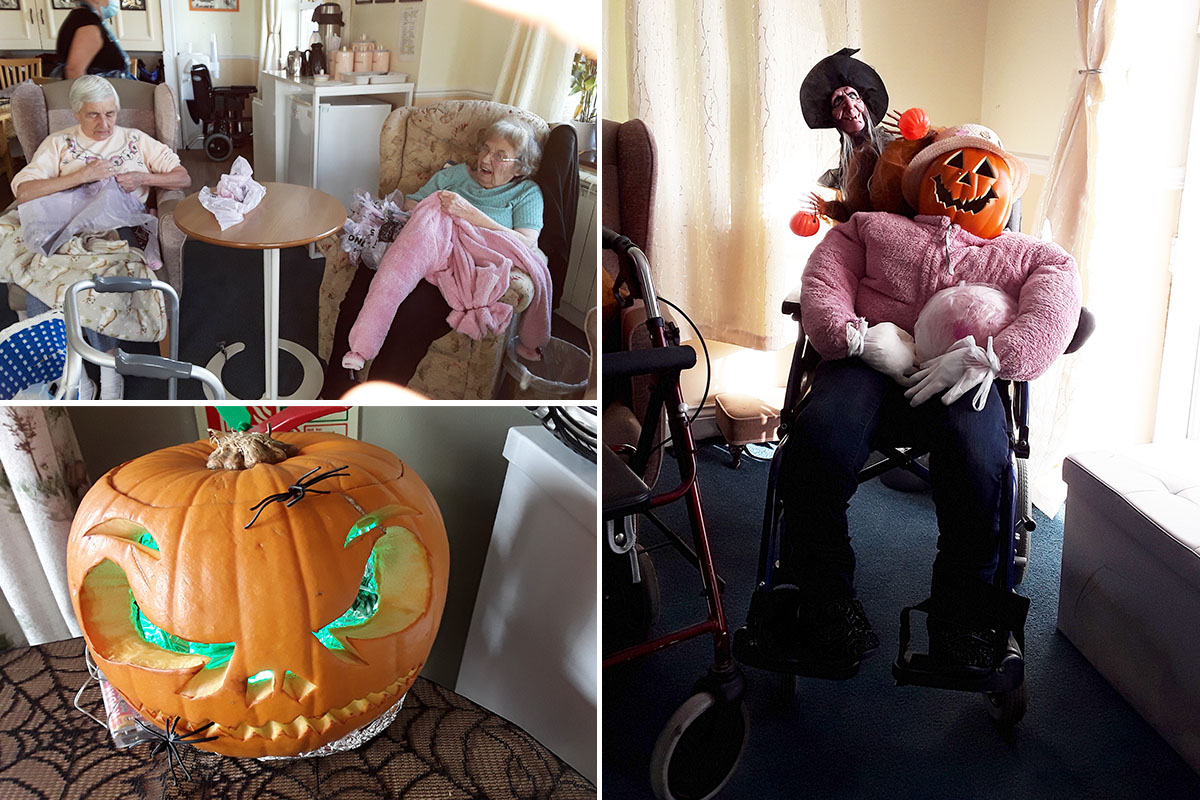 Halloween crafts at Silverpoint Court Residential Care Home