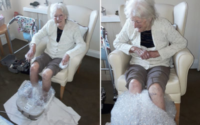 Bursting with bubbles at Silverpoint Court Residential Care Home