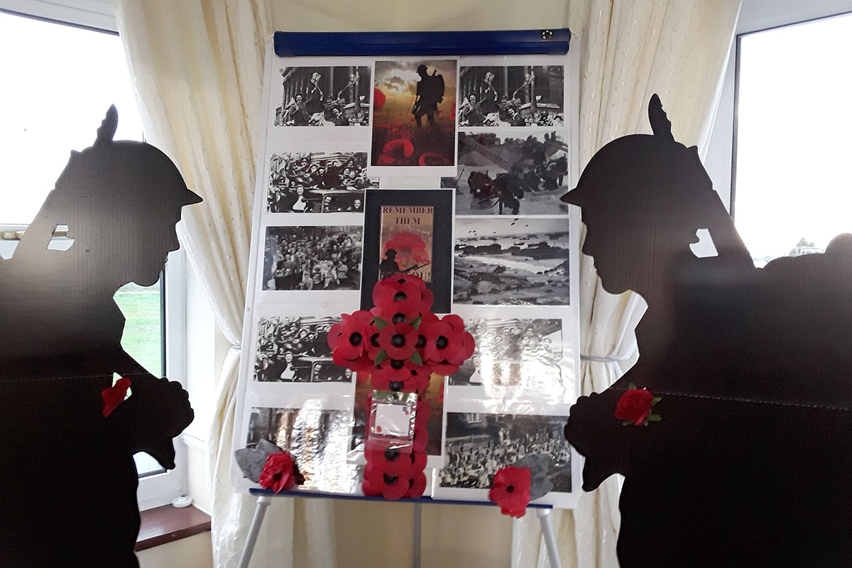 Remembrance Day at Silverpoint Court Residential Care Home