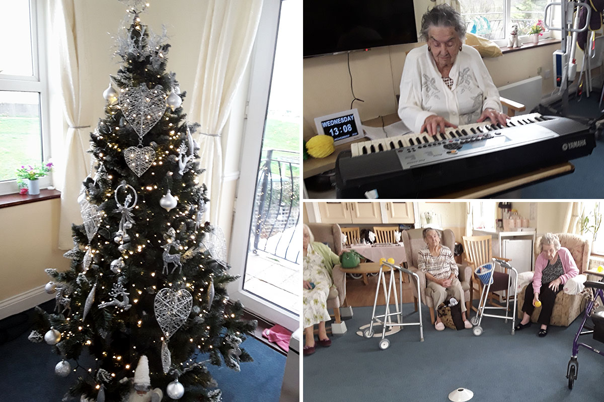 Baking and Christmas preparations at Silverpoint Court Residential Care Home