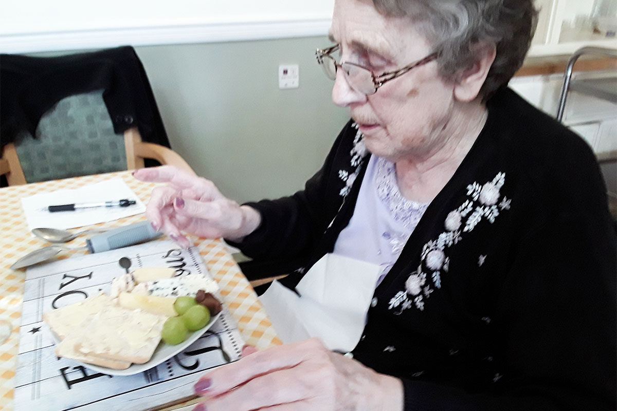 Chocolate cheese gets the thumbs up at Silverpoint Court Residential Care Home