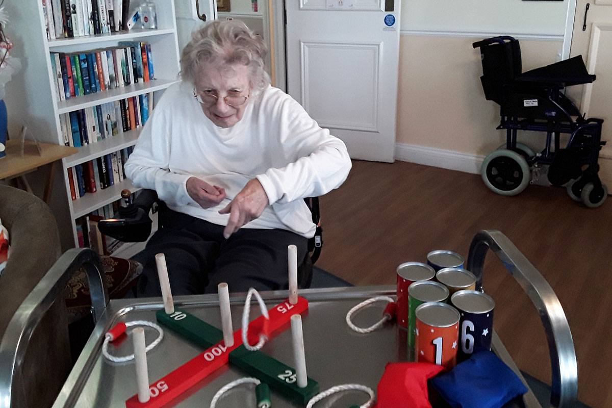 Seeing in the New Year with games and music at Silverpoint Court Residential Care Home