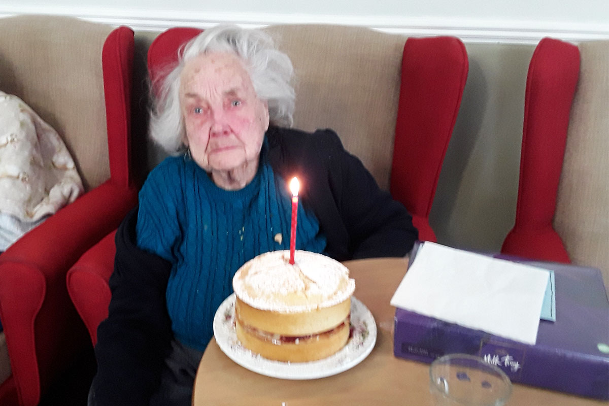 Birthday wishes for Joyce at Silverpoint Court Residential Care Home