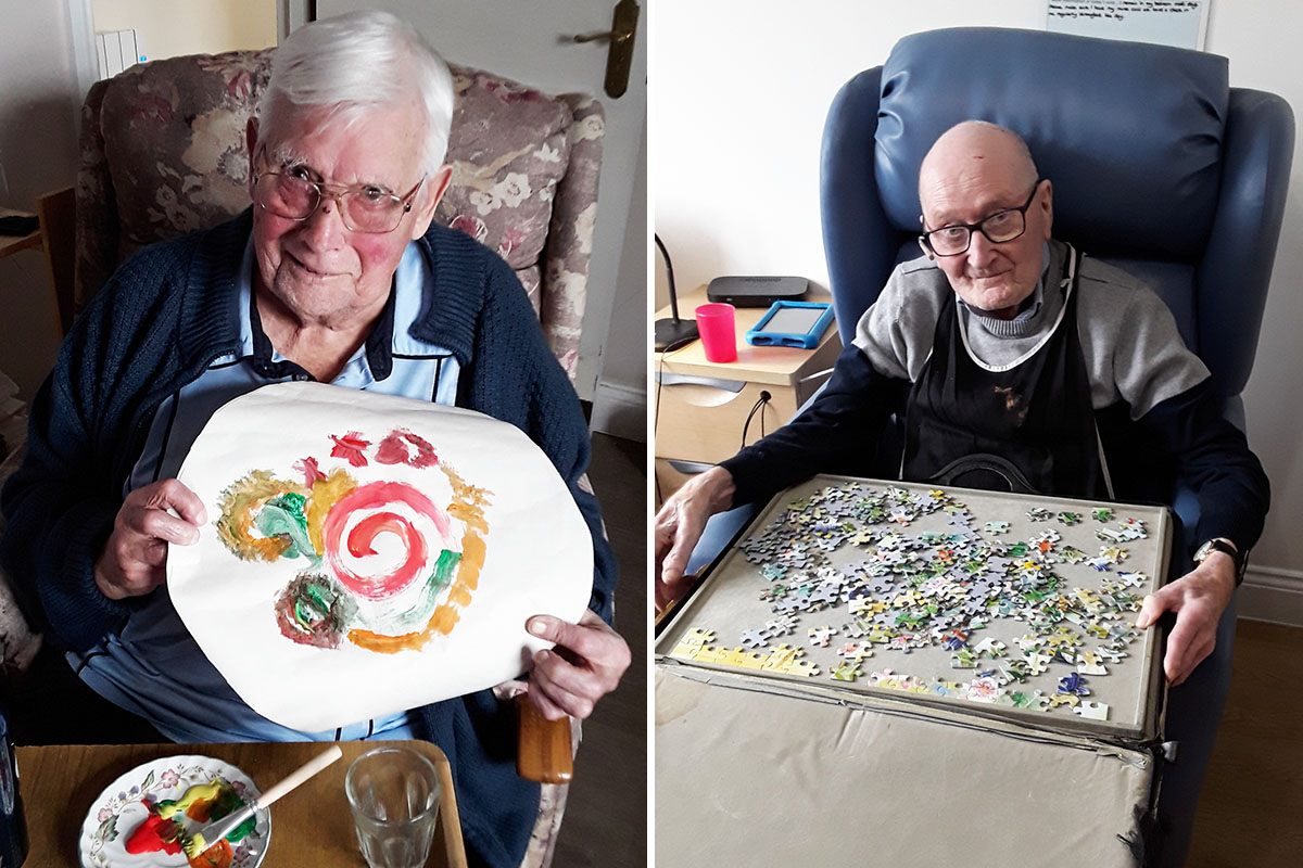 Creative pastimes and Eric Sykes at Silverpoint Court Residential Care Home