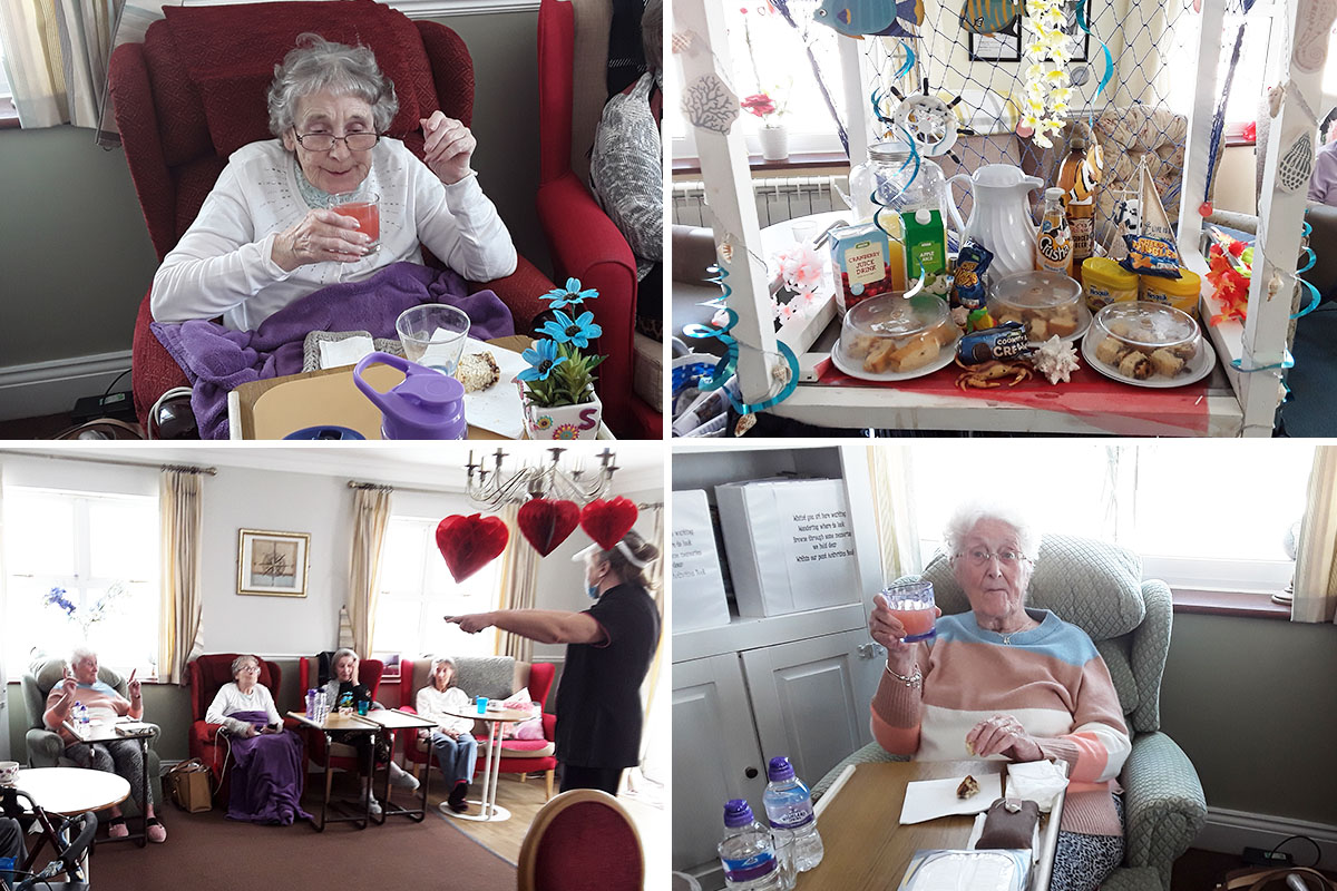Fruity refreshments and a singalong at Silverpoint Court Residential Care Home