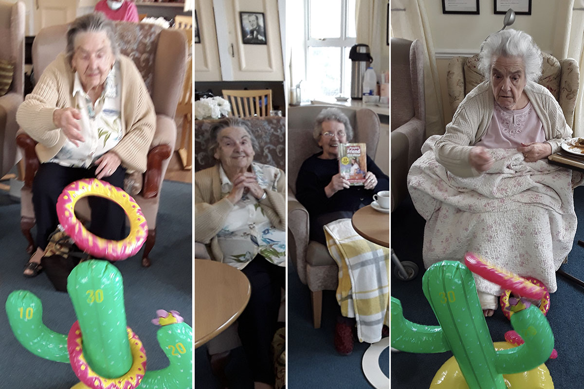 Sunday relaxation and target fun at Silverpoint Court Residential Care Home