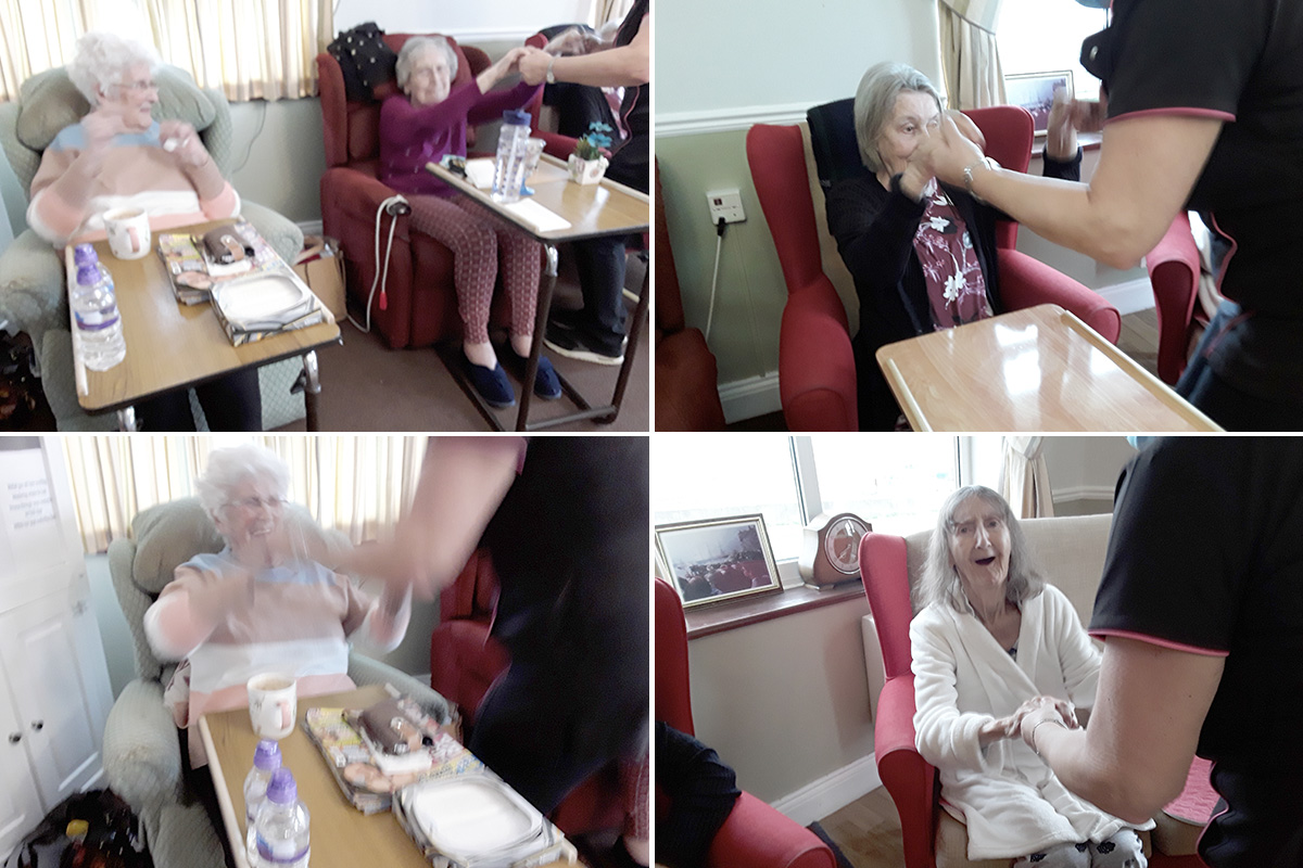 The joy of rock and roll at Silverpoint Court Residential Care Home