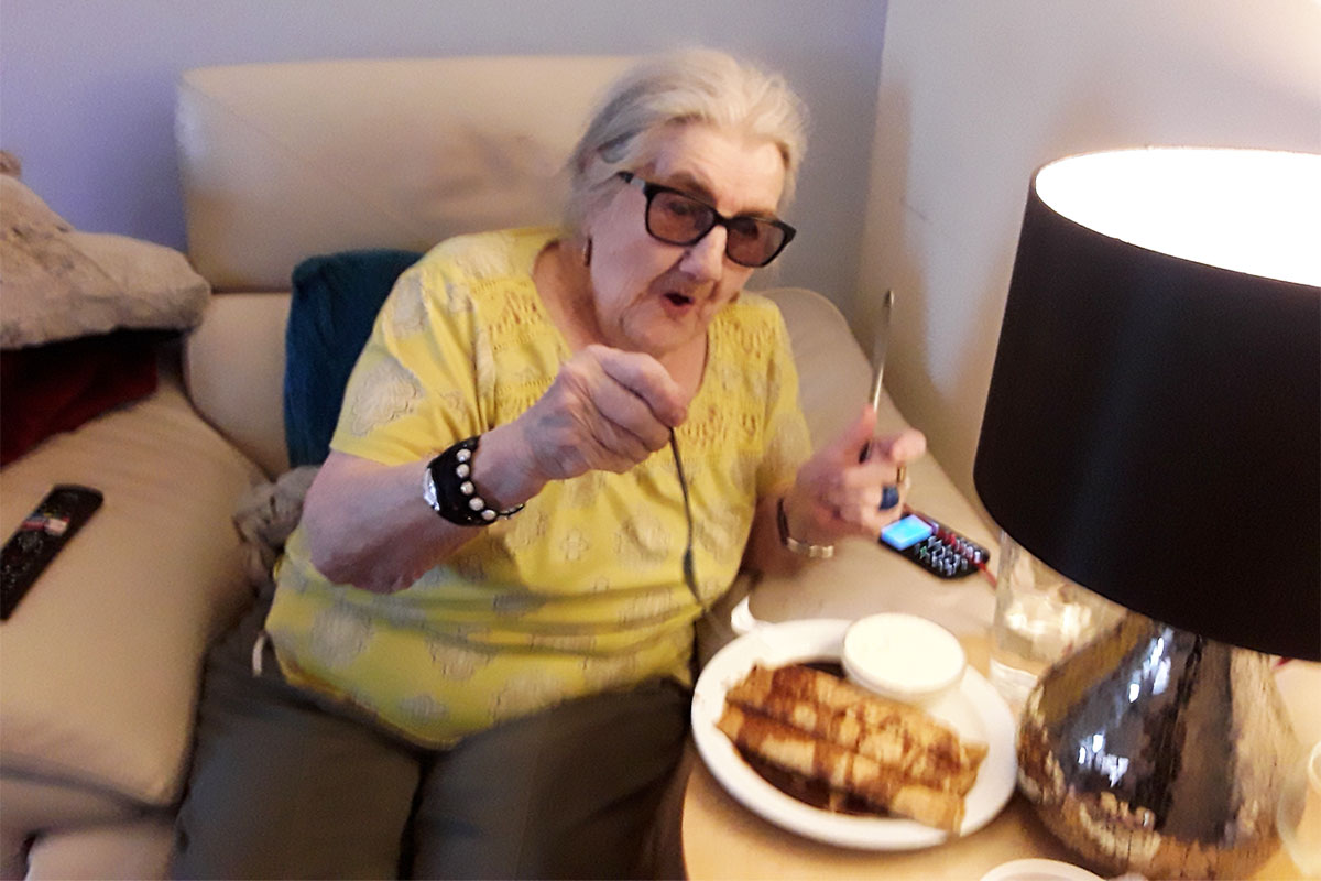 Celebrating Pancake Day at Silverpoint Court Residential Care Home