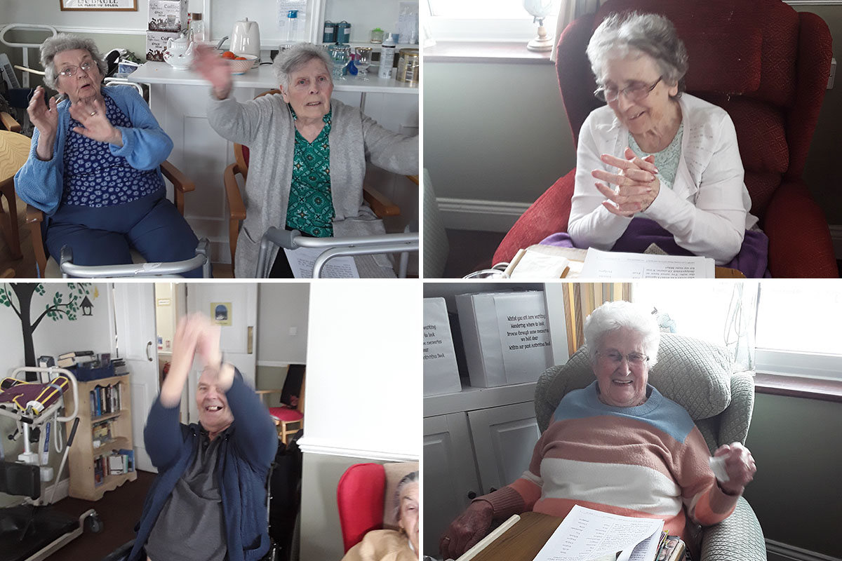 The Daily Sparkle and 60s music at Silverpoint Court Residential Care Home