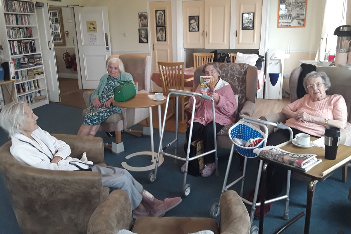 Book Club discussions at Silverpoint Court Residential Care Home