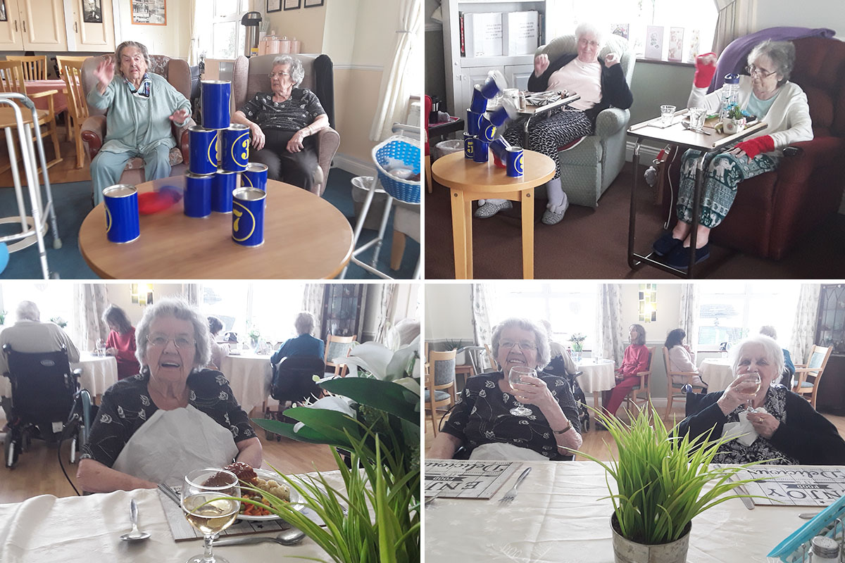 Target games and ladies lunch at Silverpoint Court Residential Care Home