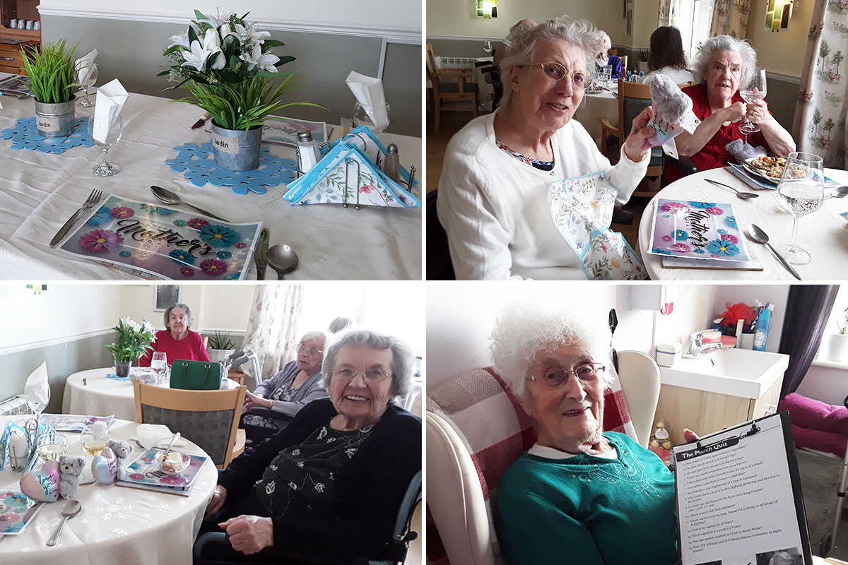 Mothers Day smiles at Silverpoint Court Residential Care Home