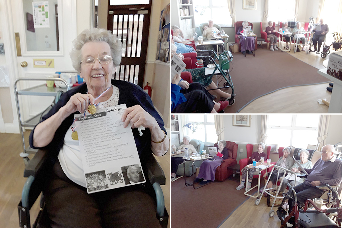 Coffee and sparkles at Silverpoint Court Residential Care Home