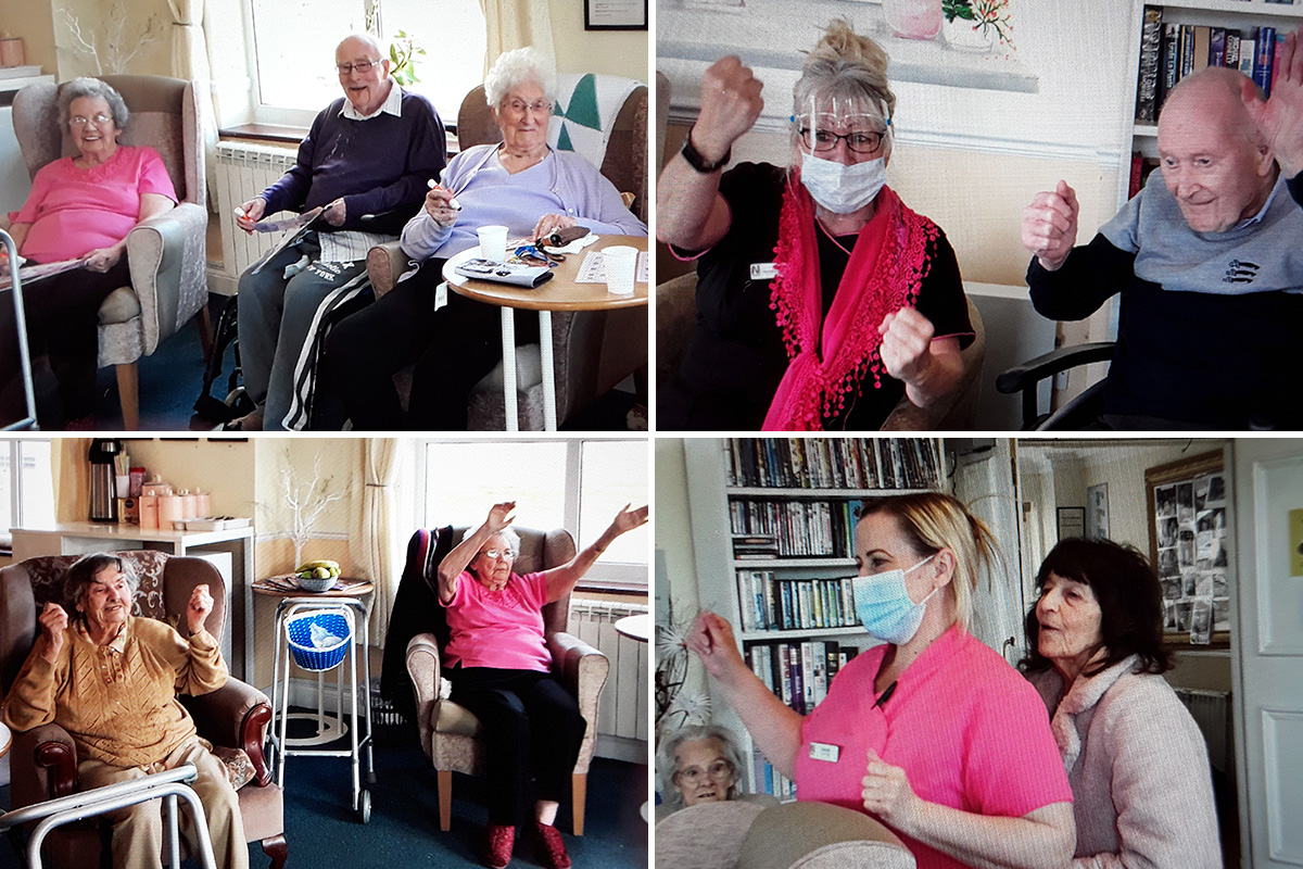 Zumba and bingo at Silverpoint Court Residential Care Home
