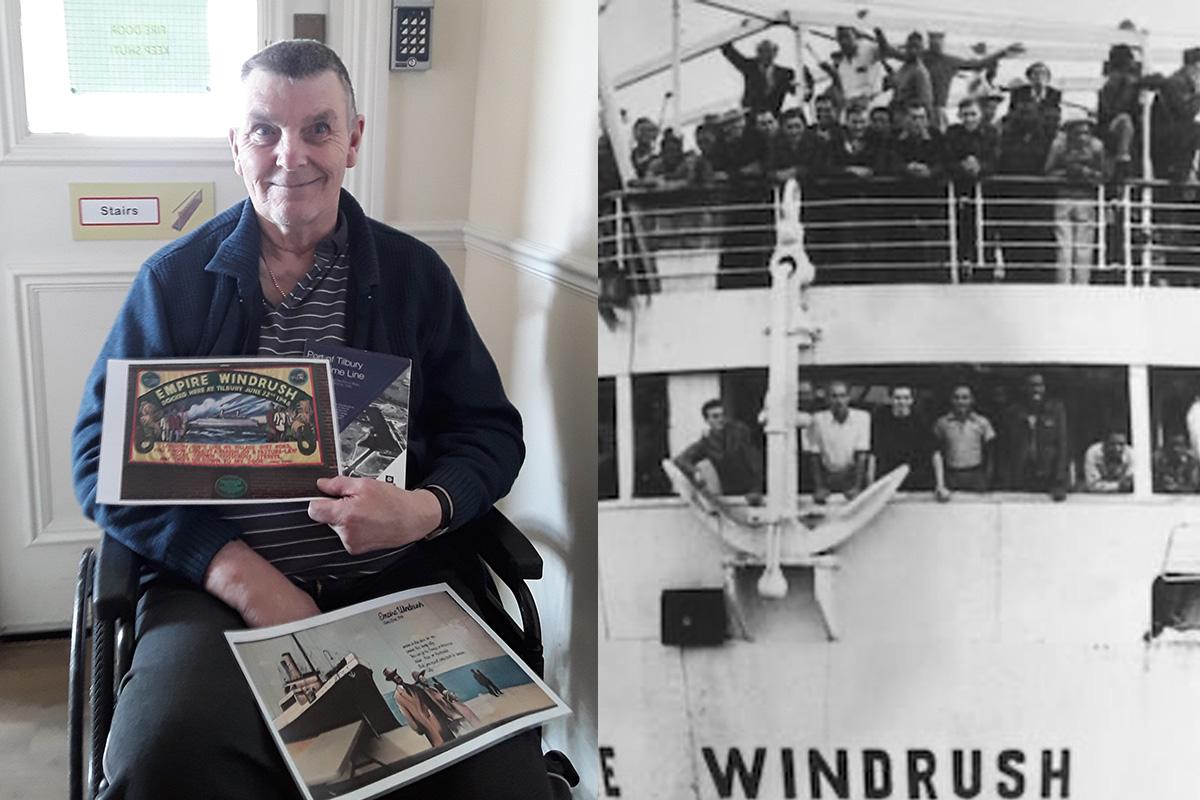 John enjoys Tilbury Docks nostalgia at Silverpoint Court Residential Care Home