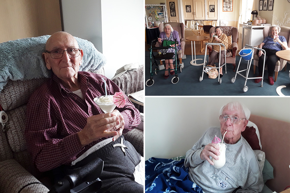 Milkshake heaven at Silverpoint Court Residential Care Home