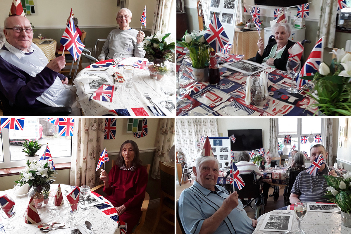 Celebrating VE Day at Silverpoint Court Residential Care Home