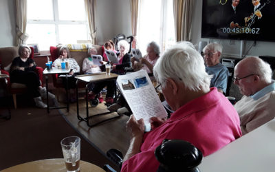 Silverpoint Court Residential Care Home residents enjoy coffee and Sparkle discussions