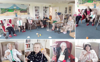 Boccia fun at Silverpoint Court Residential Care Home