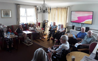Coffee morning and time in the garden at Silverpoint Court Residential Care Home
