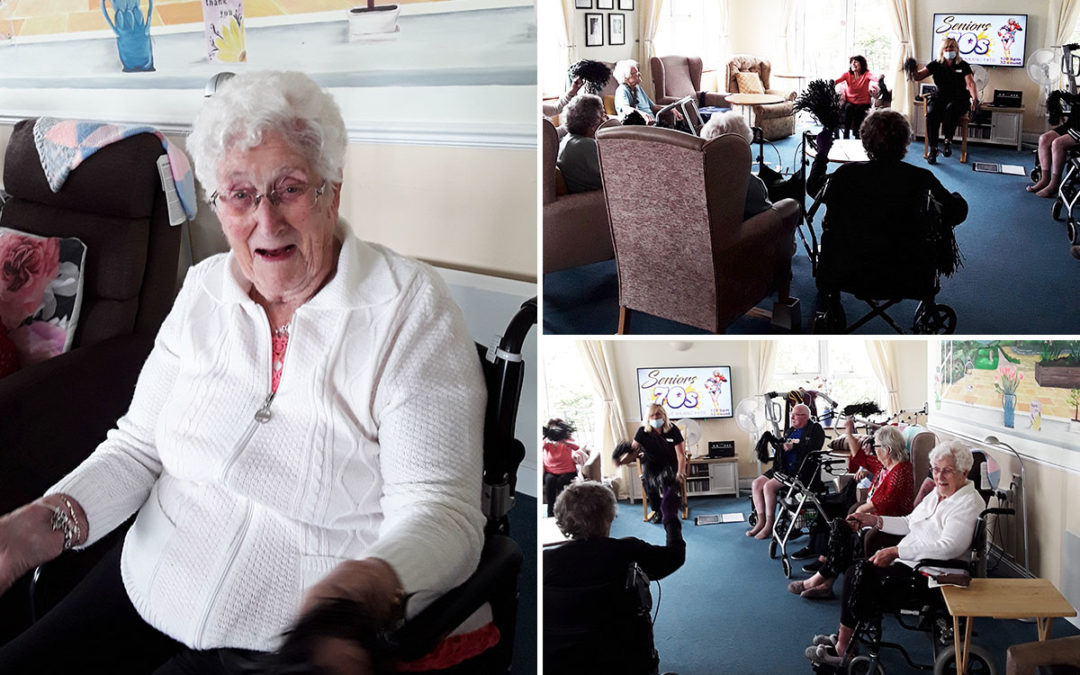 Exercise fun and coffee morning applause at Silverpoint Court Residential Care Home