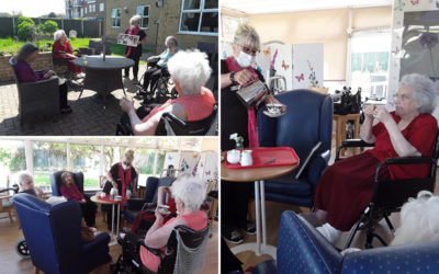 Holiday memories and afternoon tea at Silverpoint Court Residential Care Home