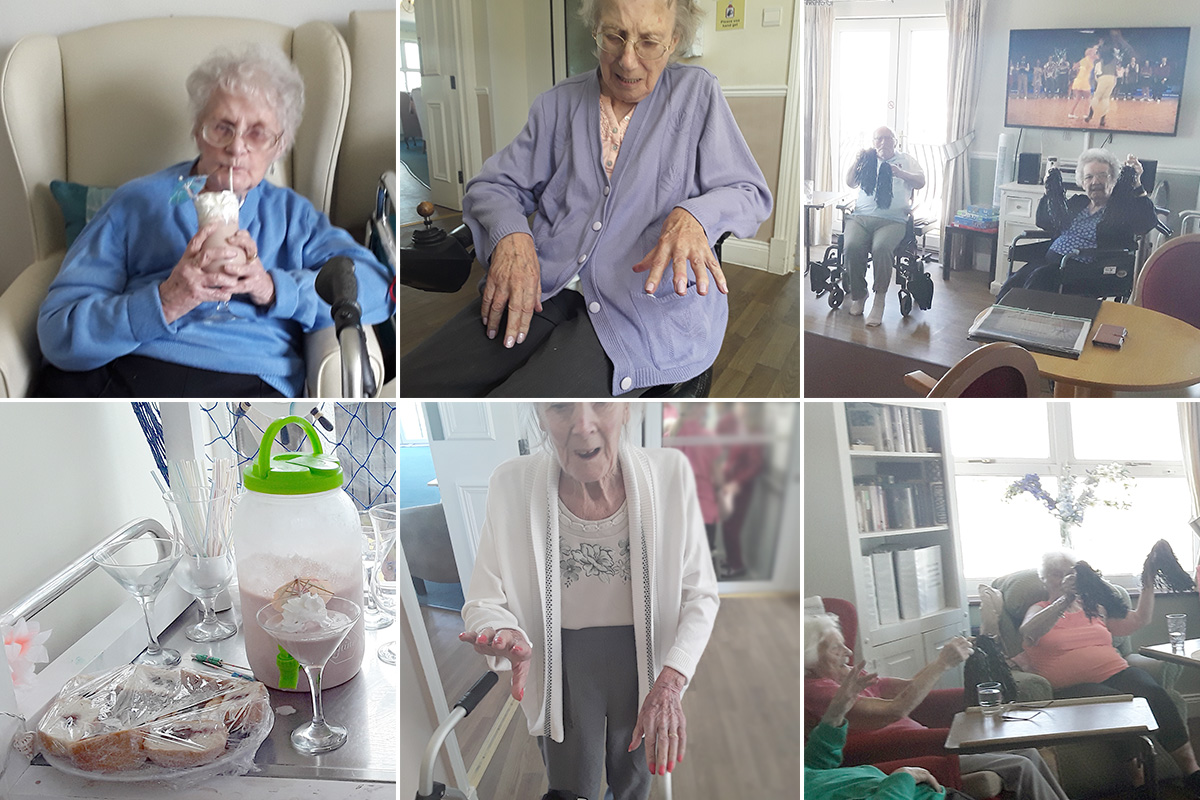 Milkshakes and movies at Silverpoint Court Residential Care Home