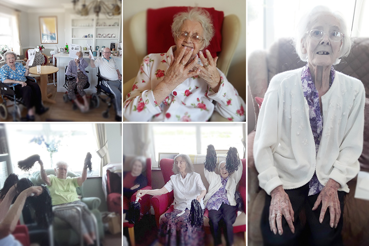 Exercises and a coffee morning with music at Silverpoint Court Residential Care Home
