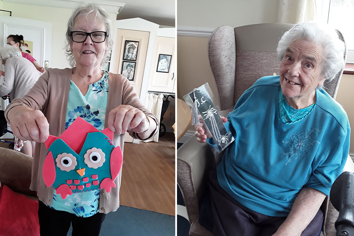 Animal inspired crafts at Silverpoint Court Residential Care Home