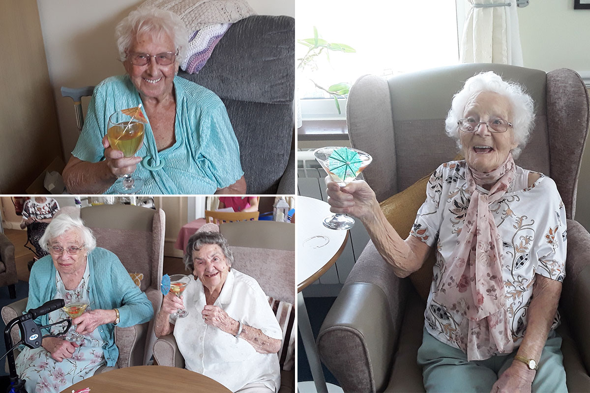 Sweet treats and refreshing drinks at Silverpoint Court Residential Care Home