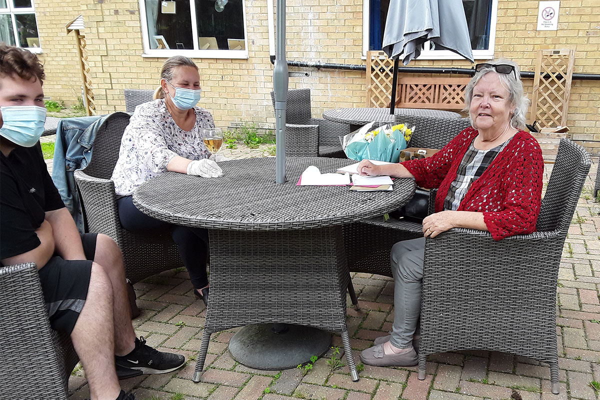 Birthday wishes for Jean at Silverpoint Court Residential Care Home