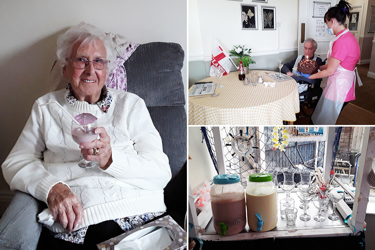 Birthday wishes and delicious milkshakes at Silverpoint Court Residential Care Home