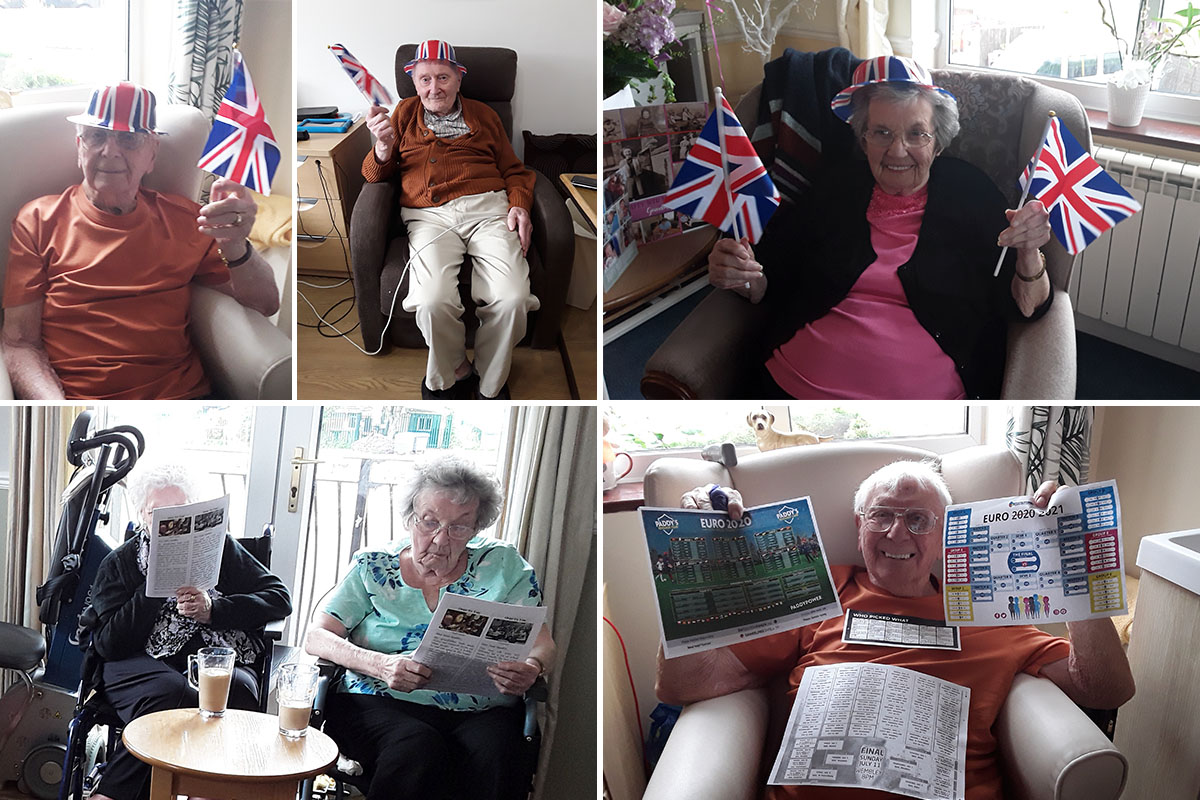 Quiz fun and football fever at Silverpoint Court Residential Care Home