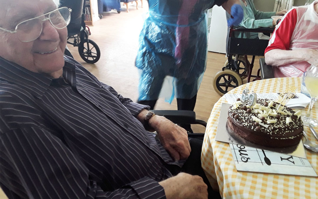 Birthday wishes for Tommy at Silverpoint Court Residential Care Home