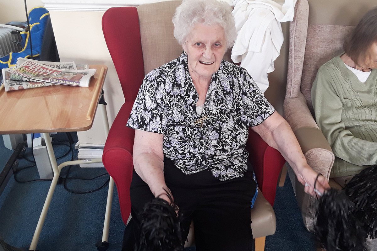 Seated exercises and 70s sing along at Silverpoint Court Residential Care Home