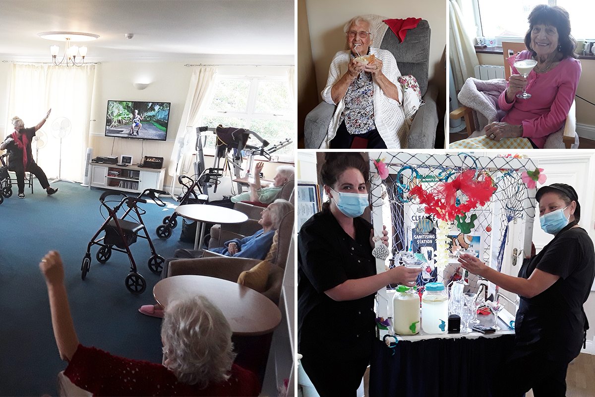Homemade lemonade and Zumba at Silverpoint Court Residential Care Home