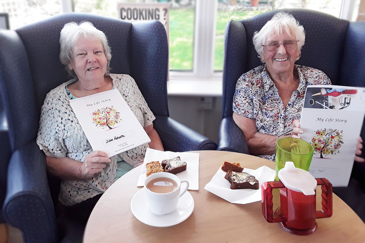 Reminiscence activities at Silverpoint Court Residential Care Home
