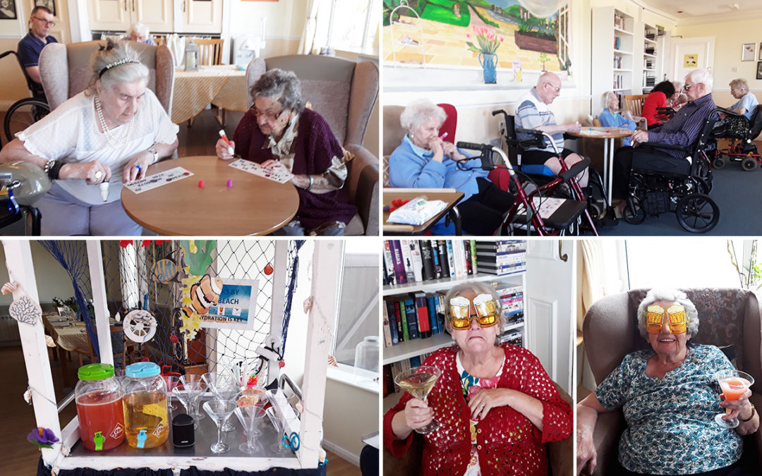 Fruit punch and bingo at Silverpoint Court Residential Care Home