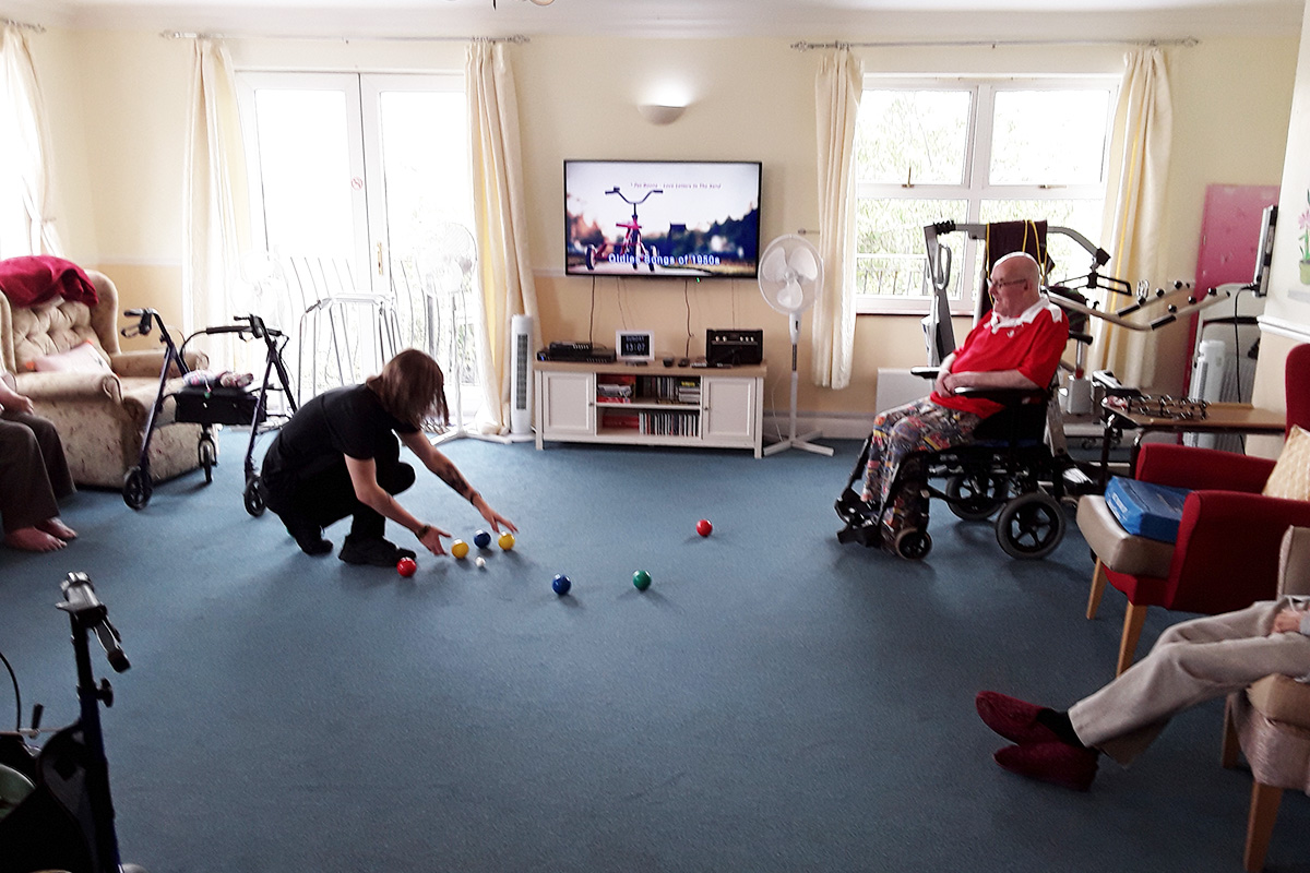 Bowling at Silverpoint Court Residential Care Home