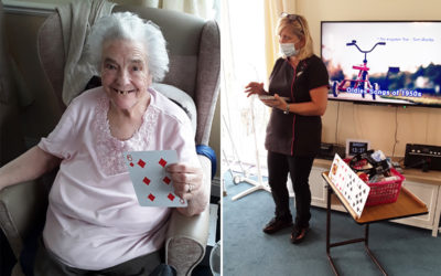 Card games and bowls at Silverpoint Court Residential Care Home
