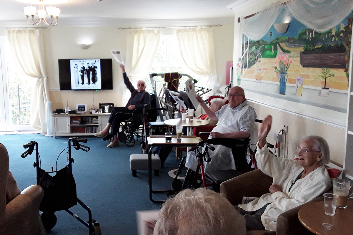 Coffee morning and quiz at Silverpoint Court Residential Care Home