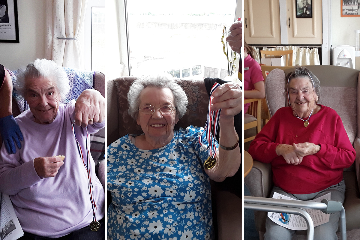 August medal winners at Silverpoint Court Residential Care Home