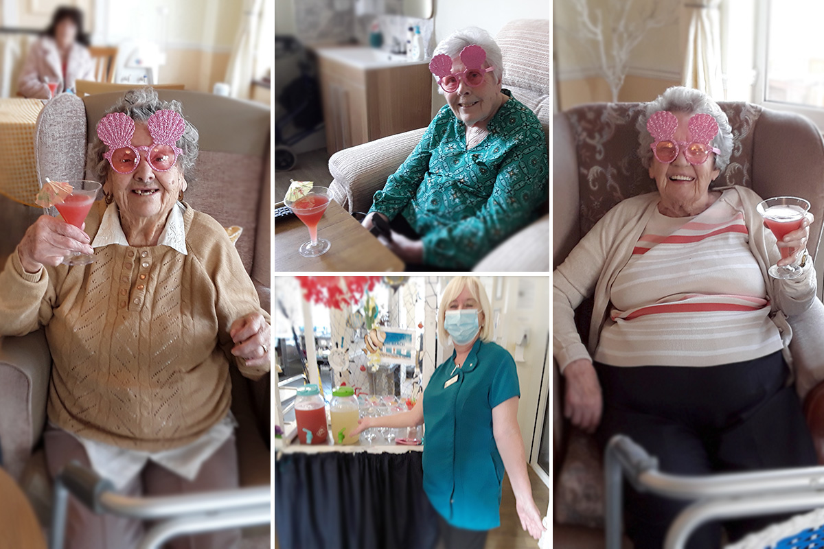 Fruit twist cocktails at Silverpoint Court Residential Care Home