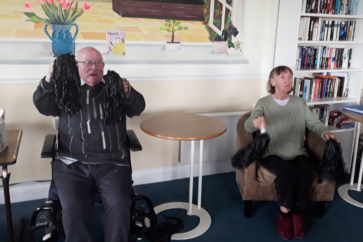 Reminiscence and seated exercises at Silverpoint Court Residential Care Home