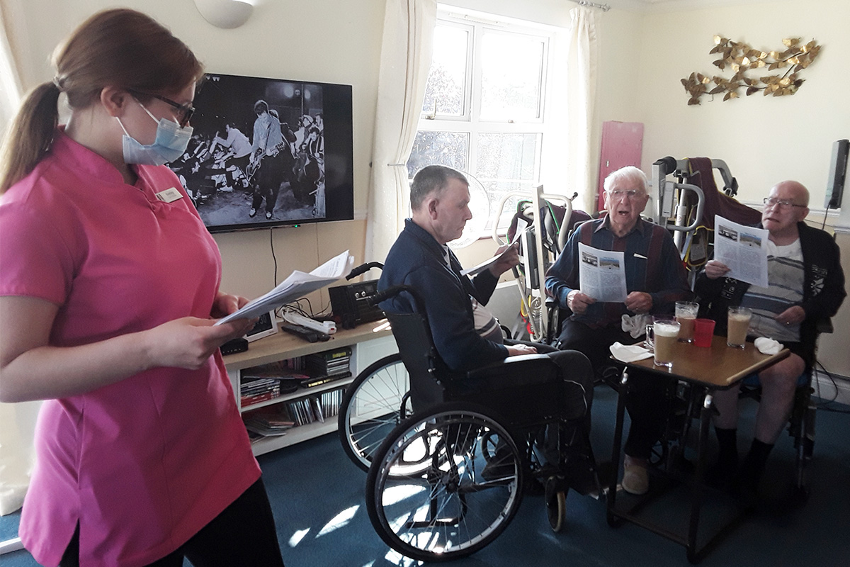 Silverpoint Court Residential Care Home residents enjoy skittles and coffee morning
