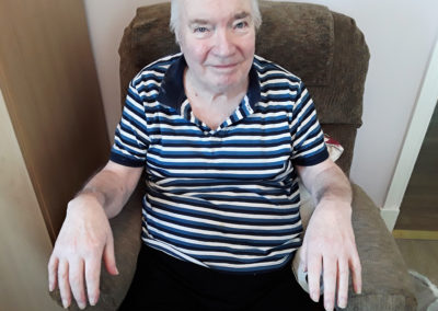 Silverpoint Court Residential Care Home resident with pampered nails