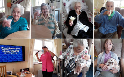 Milkshakes and karaoke at Silverpoint Court Residential Care Home
