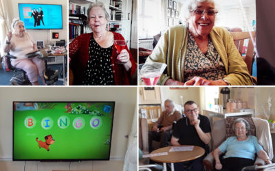 Silverpoint Court Residential Home residents enjoying bingo and refreshments