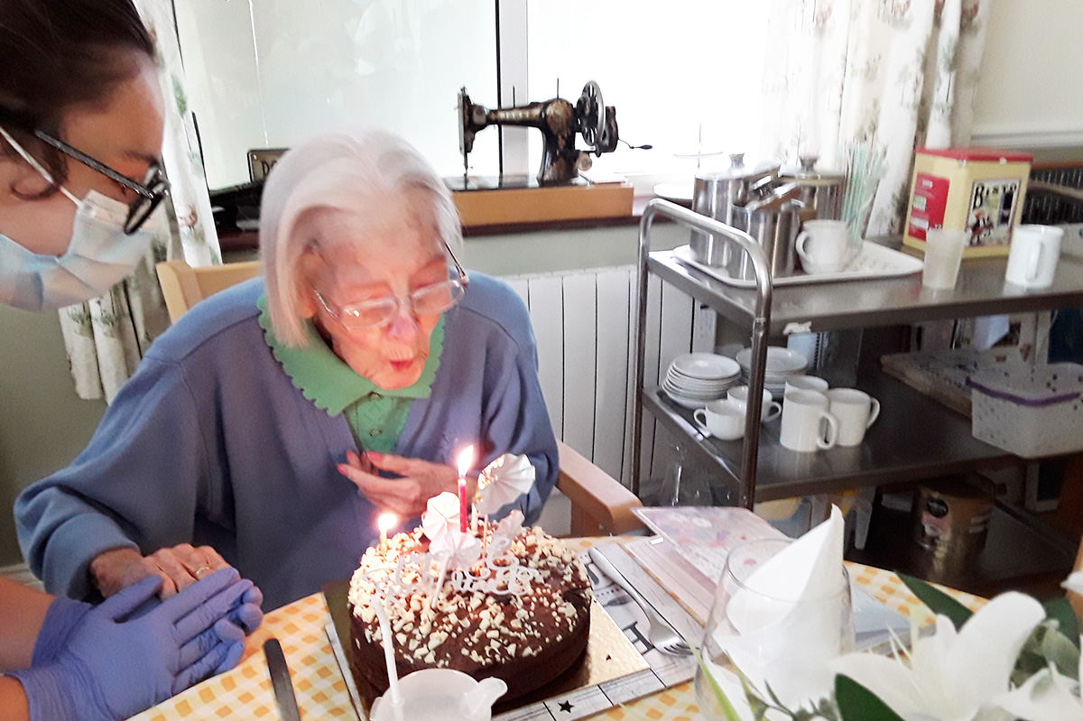 Happy birthday to Joan at Silverpoint Court Residential Care Home